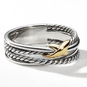 David Yurman X Crossover Ring with 18K Gold